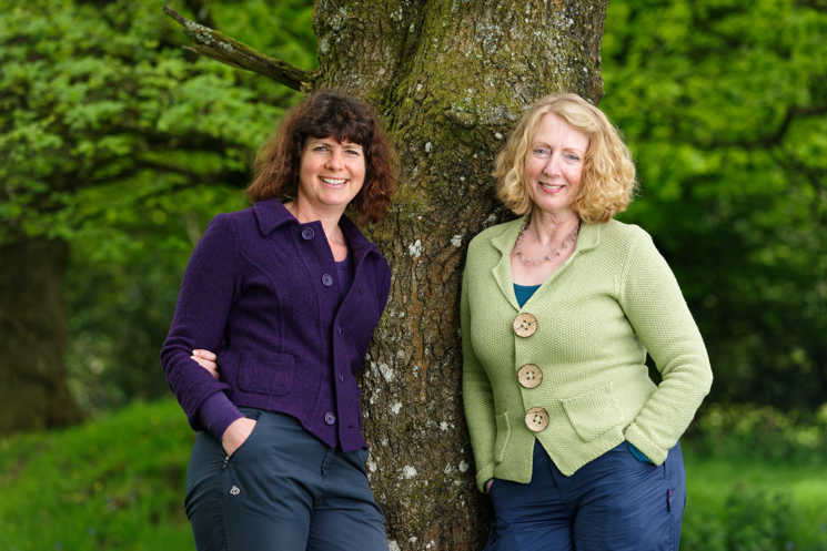 Ruth and Rose stood under a tree